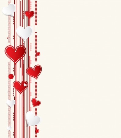 Love background with hearts valentine day card Vector