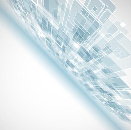 fondo tecnologia: abstracto ordenador luz cubo tecnolog�a empresarial fondo Vectores