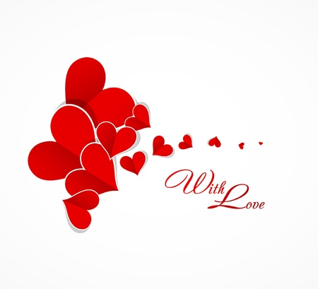 Happy valentine day background with love hearts card Stock Vector - 17749355
