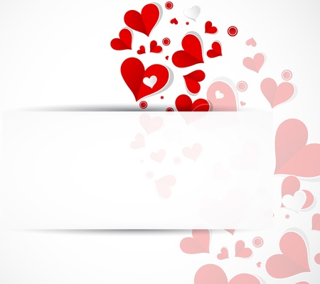 Happy valentine day background with love hearts banner Stock Vector - 17749446