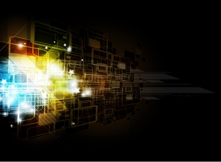 abstract dark futuristic computer technology business background Vector