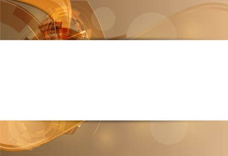 industrial scientific: abstract gold futuristic computer high technology business banner