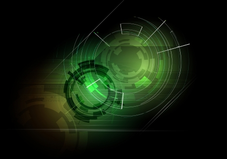 abstract deep dark futuristic computer technology business background Vector