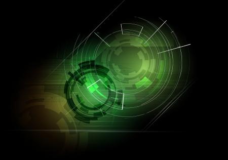 abstract deep dark futuristic computer technology business background Stock Vector - 17854765