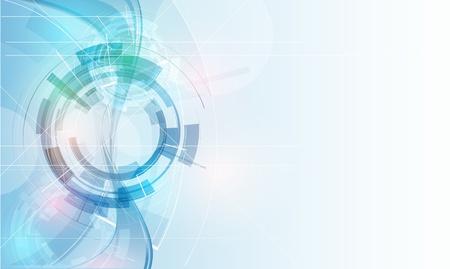 Une grande lumière technologie futuriste ordinateur fond d'affaires bannière Banque d'images - 17854762