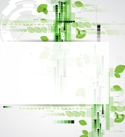 abstract ecology computer technology business background Stock Vector - 17854795