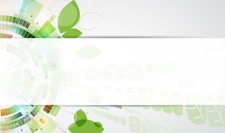 abstract ecology futuristic high computer technology business banner Vector