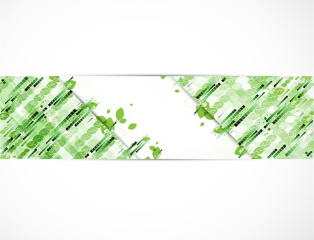 abstract ecology high computer technology business banner Vector