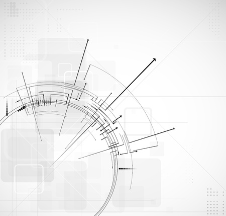 consistency: abstract circuit computer round line technology business background Illustration