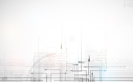 abstract circuit computer line technology business banner Vector