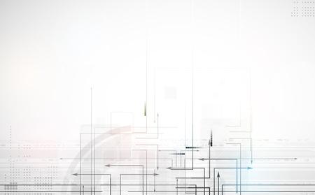 abstract circuit computer line technology business banner Иллюстрация