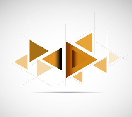 abstract gold triangle futuristic computer technology business banner Stock Vector - 17854808