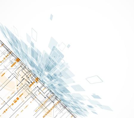 evolucion: circuito abstracto borroso computadora de alta tecnolog�a conocimiento de los negocios Vectores