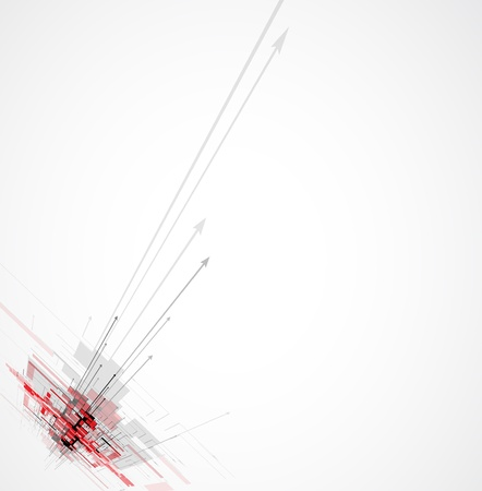 Abstract red arrow futuristic Technology circuit computer background vector Stock Vector - 17984999