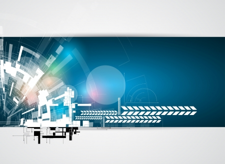 abstract circuit cyber high technology business background Vector