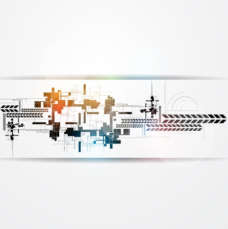 abstract circuit cyber high technology business background Stock Vector - 18144143
