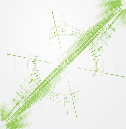 high tech eco green infinity computer technology concept background Stock Vector - 18385071