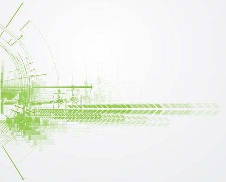 industrial scientific: high tech eco green infinity computer technology concept background