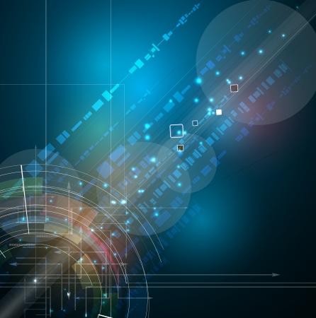 추상 미래의 페이드 컴퓨터 기술 사업 배경 스톡 콘텐츠 - 18443827