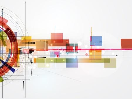 abstracte futuristische fade computertechnologie zakelijke achtergrond Vector Illustratie