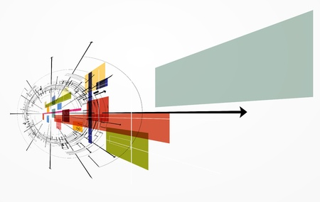 nano: abstract concept nano ray computer technology business banner