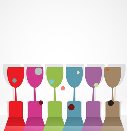 night bar: wine card concept background alcohol drink glass