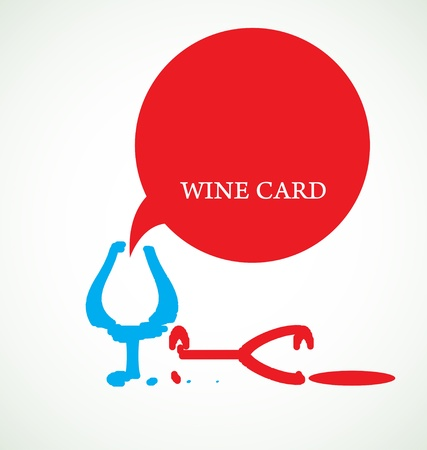 wine making: wine card concept background alcohol drink glass