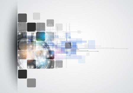 cubo: abstracta estructura de circuito de computadora cubo fondo la tecnolog�a de negocios Vectores