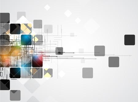 ksztaÅ't: abstract obwód struktura computer cube technology background business Ilustracja