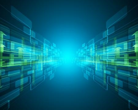 tecnologia virtual: oscuro abstracto futurista circuito de alta tecnolog�a de antecedentes negocio de las computadoras Vectores
