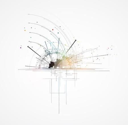 onderzoek: abstracte futuristische fade computertechnologie zakelijke achtergrond