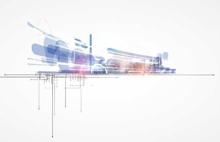 abstract futuristic internet high computer technology business background Illustration