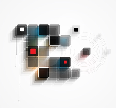 abstract futuristic internet high computer technology business background Stock Vector - 19585715