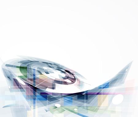 抽象的な未来的なインターネット高コンピューター技術ビジネスの背景