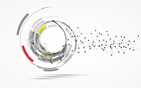 futuriste internet haute technologie arri?re-plan d'affaires de l'ordinateur Vecteurs