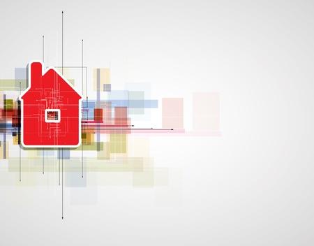 abstracte vastgoed city circuit spiegel zakelijke achtergrond Stock Illustratie