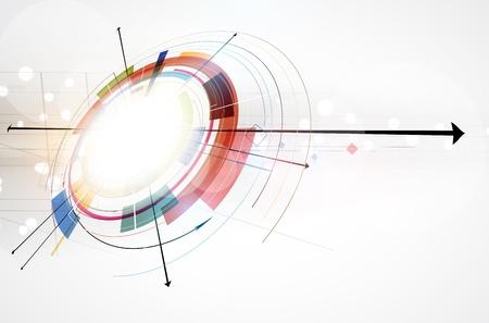 Tecnologia concetto astratto computer infinito business globale di sfondo Archivio Fotografico - 20203953