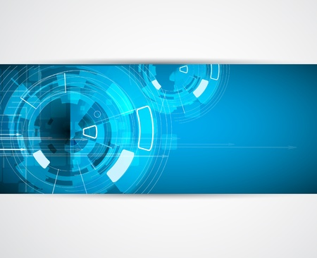 технология: абстрактный футуристический интернет высоким компьютерные технологии бизнес фон Иллюстрация