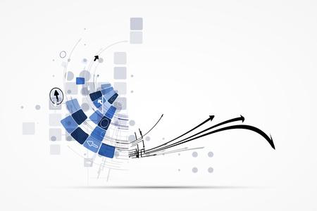 technologie: věda futuristický internet vysoký výpočetní techniky obchodní zázemí Ilustrace