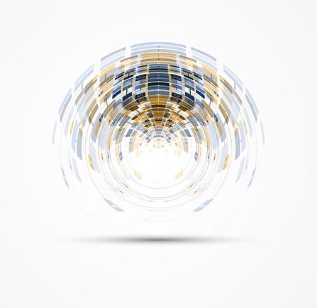 onderzoek: abstracte mondiale infinity computertechnologie concept zakelijke achtergrond