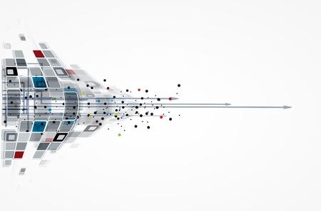 conexiones: ciencia futurista internet de alta tecnolog?a de antecedentes negocio de las computadoras Vectores