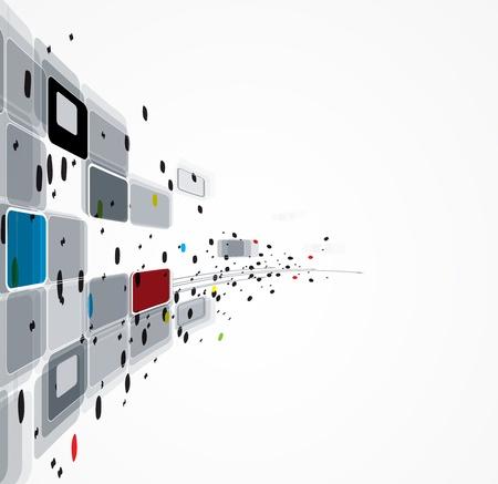 spruchband: Wissenschaft futuristische Internet hohe Computer-Technologie-Hintergrund