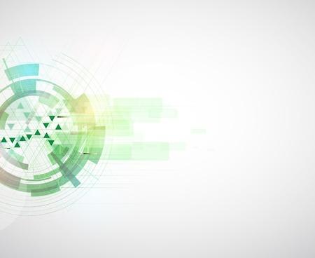 하이테크 에코 그린 무한대 컴퓨터 기술 개념 배경 벡터 (일러스트)