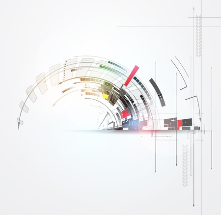 közlés: tudomány futurisztikus internet nagy számítástechnikai üzleti háttér Illusztráció