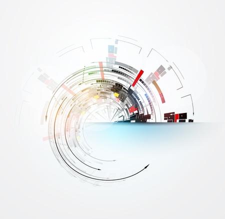 conceito: ciência futurista internet de alta tecnologia computador fundo de negócio Ilustração