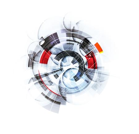 onderzoek: wetenschap futuristisch internet high computertechnologie zakelijke achtergrond Stock Illustratie