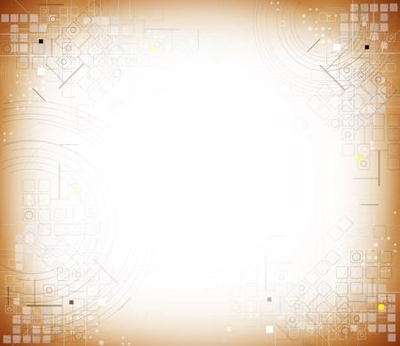 data base: science futuristic retro high computer technology business background Illustration