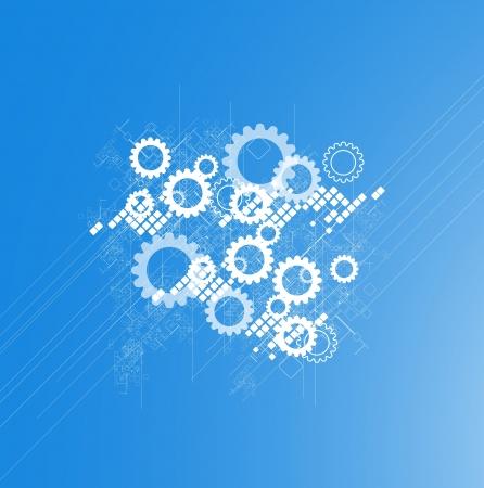 科学未来的なレトロな高コンピューター技術ビジネスの背景  イラスト・ベクター素材