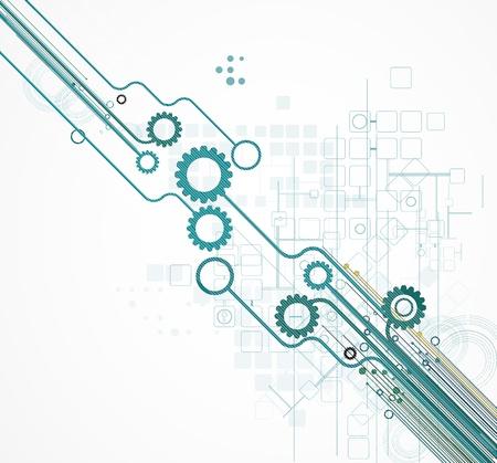과학 미래 인터넷 높은 컴퓨터 기술 사업 배경 일러스트