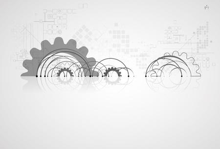 machinery: abstracto infinito tecnolog?a inform?tica concepto de fondo de negocio global Vectores